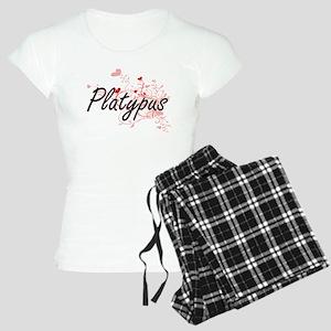 Platypus Heart Design Women's Light Pajamas