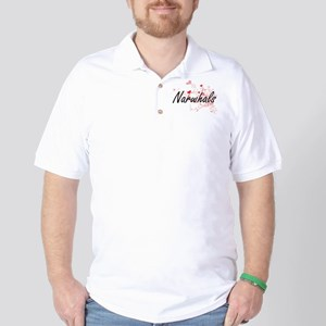 Narwhals Heart Design Golf Shirt