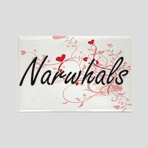 Narwhals Heart Design Magnets