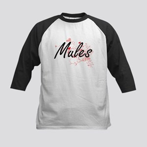 Mules Heart Design Baseball Jersey