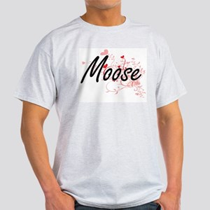 Moose Heart Design T-Shirt