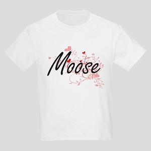 Moose Heart Design T-Shirt