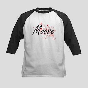 Moose Heart Design Baseball Jersey