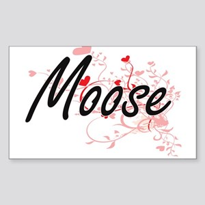 Moose Heart Design Sticker