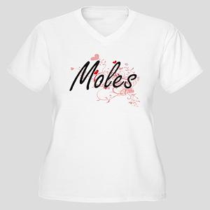 Moles Heart Design Plus Size T-Shirt