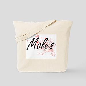 Moles Heart Design Tote Bag