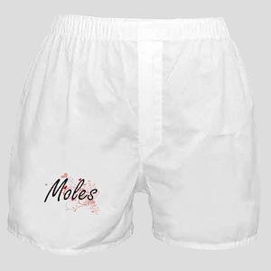Moles Heart Design Boxer Shorts