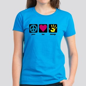 Peace, Love, Massage Women's Dark T-Shirt
