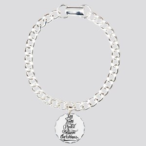 Christmas Tree Charm Bracelet, One Charm