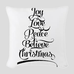 Christmas Tree Woven Throw Pillow