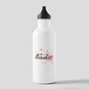 Meerkats Heart Design Stainless Water Bottle 1.0L
