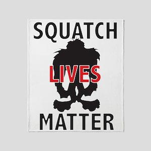 SQUATCH LIVES MATTER Throw Blanket