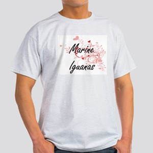 Marine Iguanas Heart Design T-Shirt