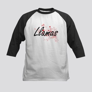 Llamas Heart Design Baseball Jersey