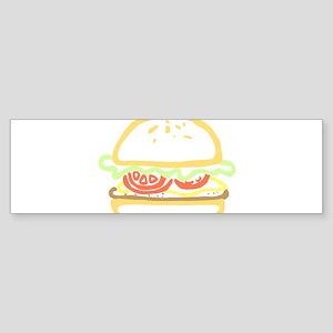 fast food hamburger Bumper Sticker
