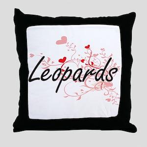 Leopards Heart Design Throw Pillow