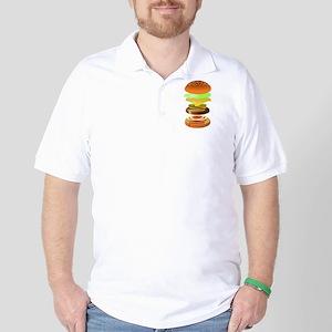 hamburger art Golf Shirt