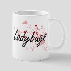 Ladybugs Heart Design Mugs