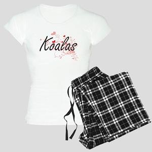 Koalas Heart Design Women's Light Pajamas