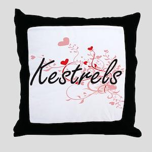 Kestrels Heart Design Throw Pillow