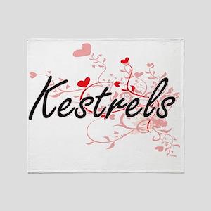 Kestrels Heart Design Throw Blanket