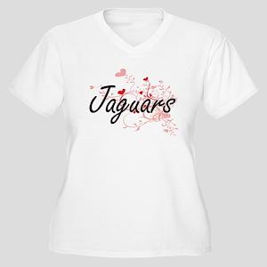 Jaguars Heart Design Plus Size T-Shirt