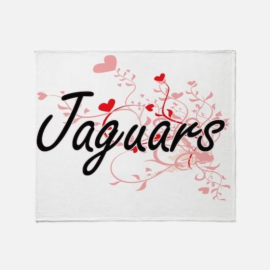Jaguars Heart Design Throw Blanket