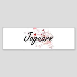 Jaguars Heart Design Bumper Sticker