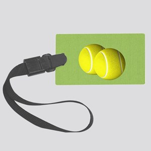 Tennis Sport Large Luggage Tag