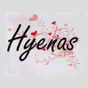 Hyenas Heart Design Throw Blanket