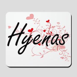 Hyenas Heart Design Mousepad