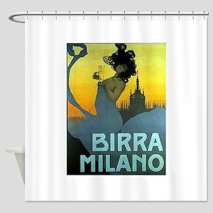 Birra Milano Vintage Advertisement Shower Curtain