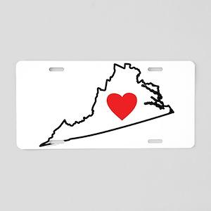 I Love Virginia Aluminum License Plate