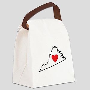 I Love Virginia Canvas Lunch Bag