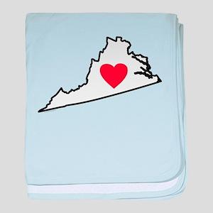I Love Virginia baby blanket