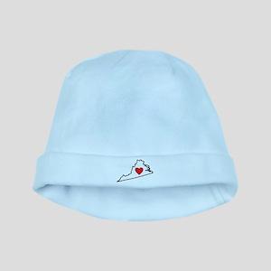 I Love Virginia baby hat