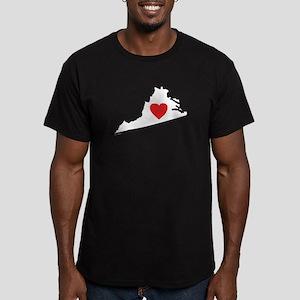 I Love Virginia Men's Fitted T-Shirt (dark)