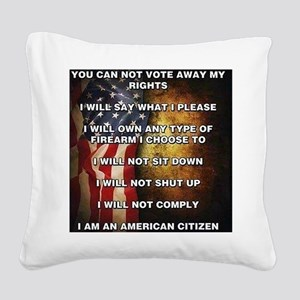 I Am An American Citizen Square Canvas Pillow