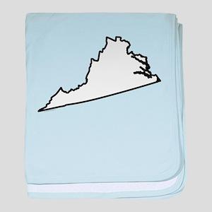 Virginia State Outline baby blanket