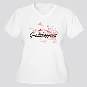 Grasshoppers Heart Design Plus Size T-Shirt