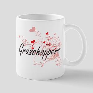 Grasshoppers Heart Design Mugs