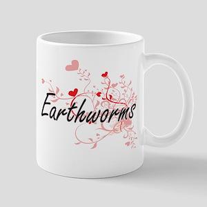 Earthworms Heart Design Mugs