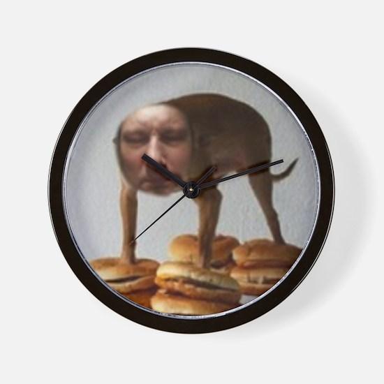 Brett Dog Burger Stand Wall Clock