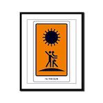 Tarot Sun Framed Panel Print