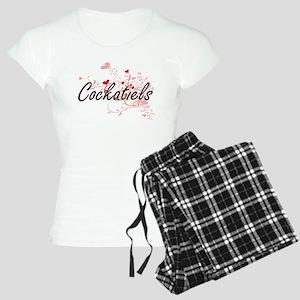 Cockatiels Heart Design Women's Light Pajamas