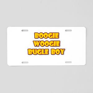 BOOGIE WOOGIE BUGLE BOY Aluminum License Plate