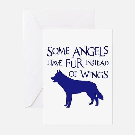 HUSKY ANGEL Greeting Cards (Pk of 10)