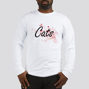 Cats Heart Design Long Sleeve T-Shirt