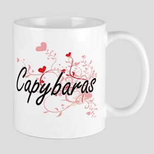 Capybaras Heart Design Mugs