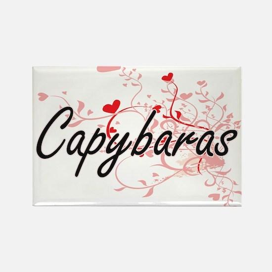 Capybaras Heart Design Magnets